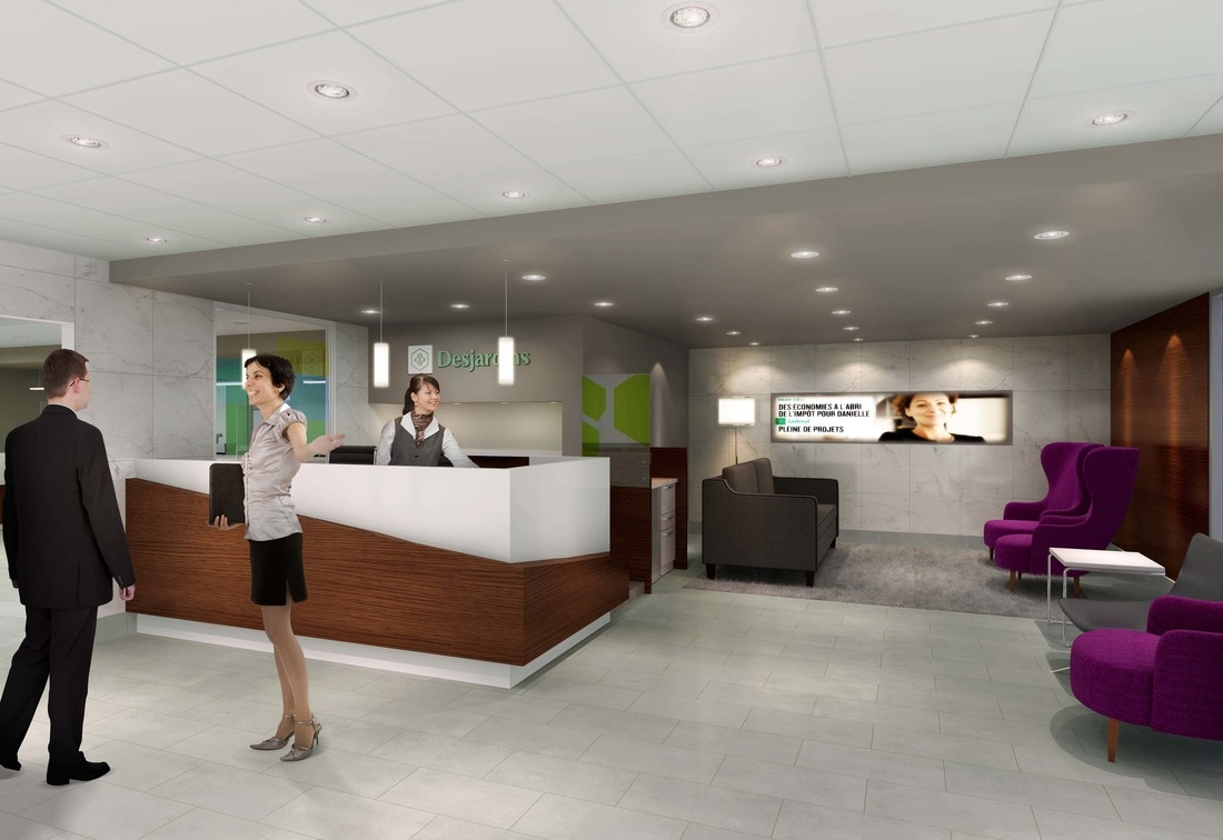 3d renderings services for offices project interior design for Banque des jardin